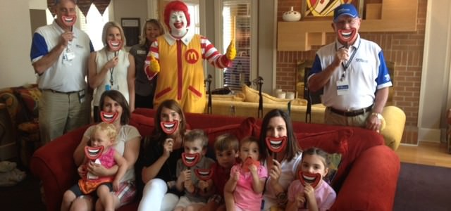 BMW Charity Pro-Am Wives and Children Visit RMH