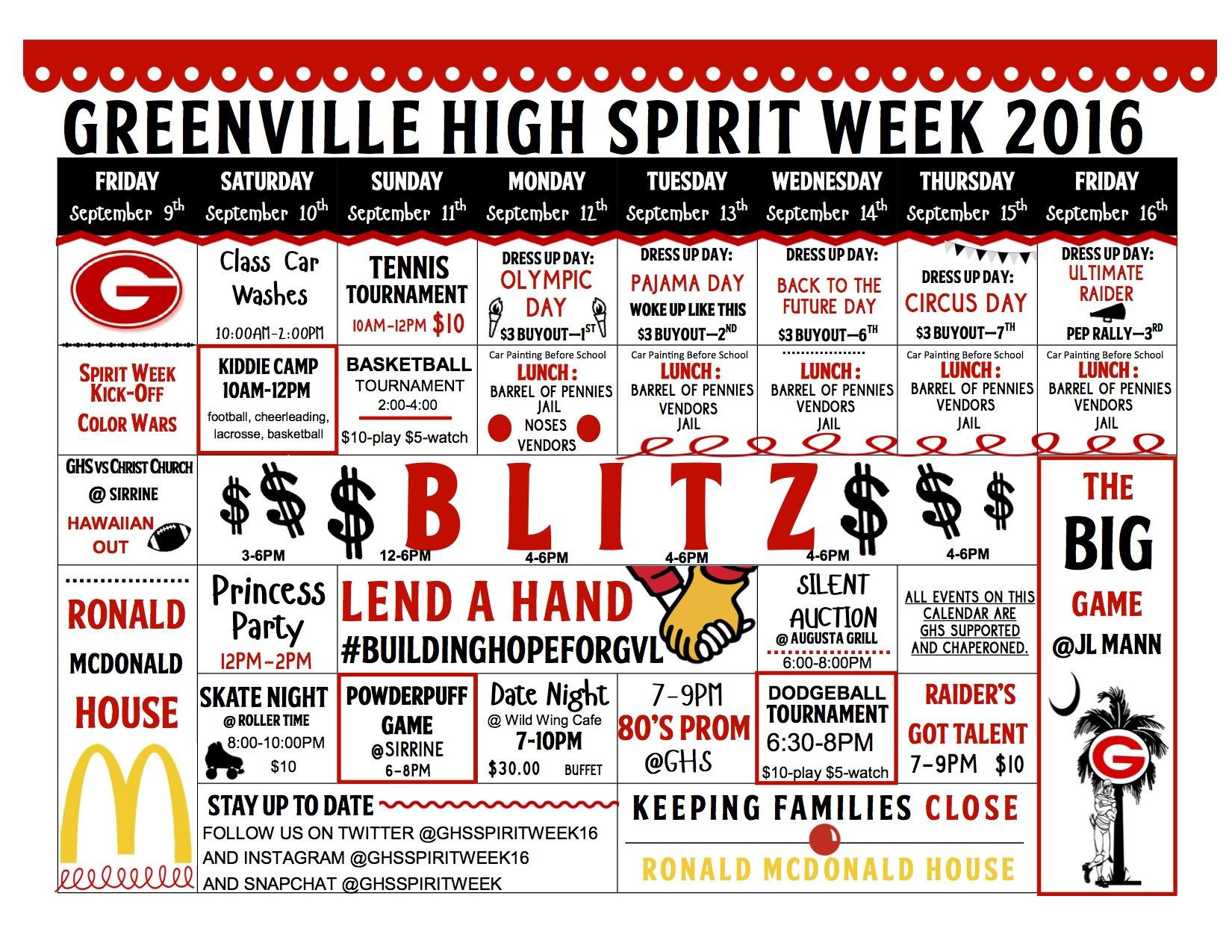 Greenville High School Spirit Week 2016 Ronald Mcdonald