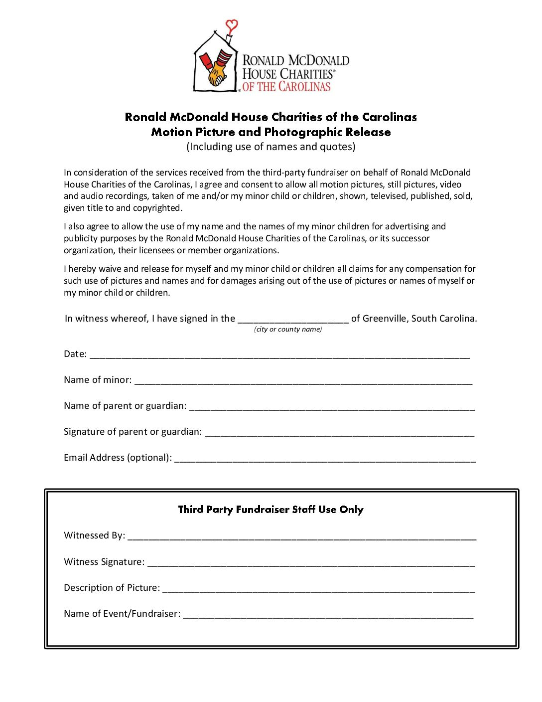 online photo release form