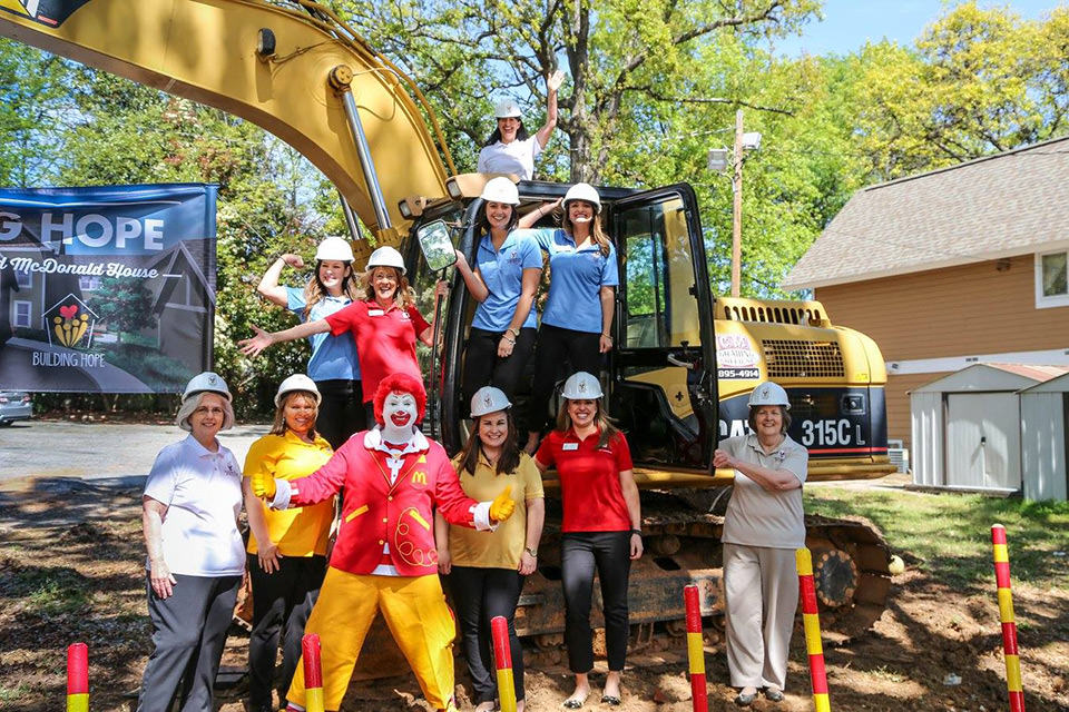 RMHC staff breaking ground on house expansion