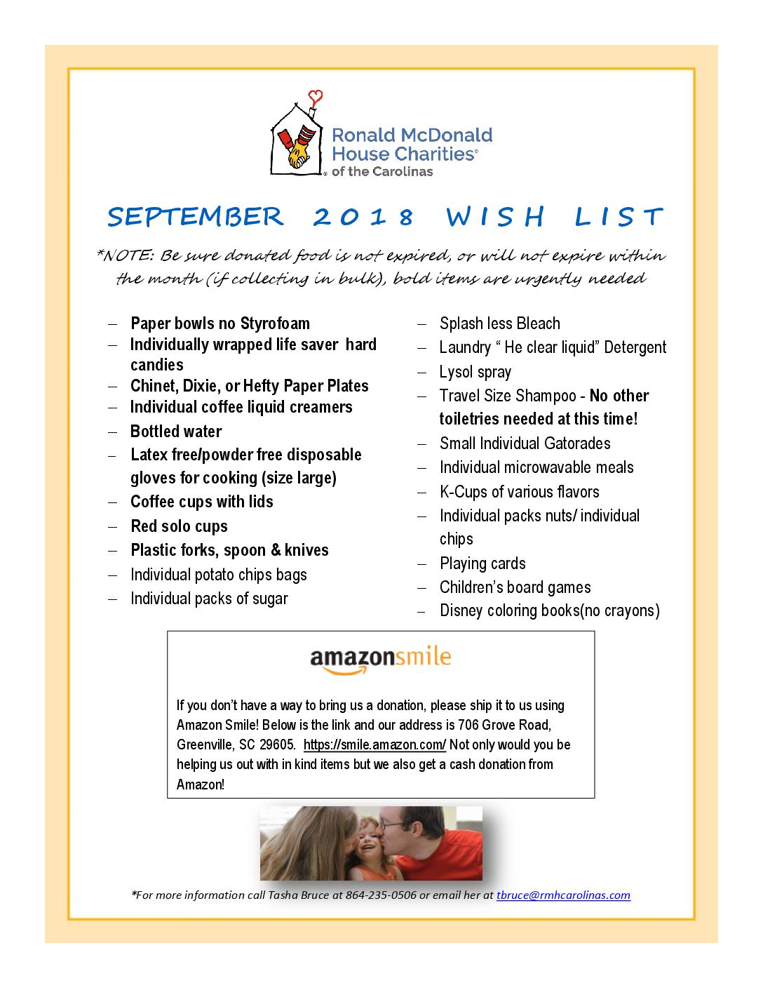 september-2018_wish-list-pdf | Ronald McDonald House Charities of